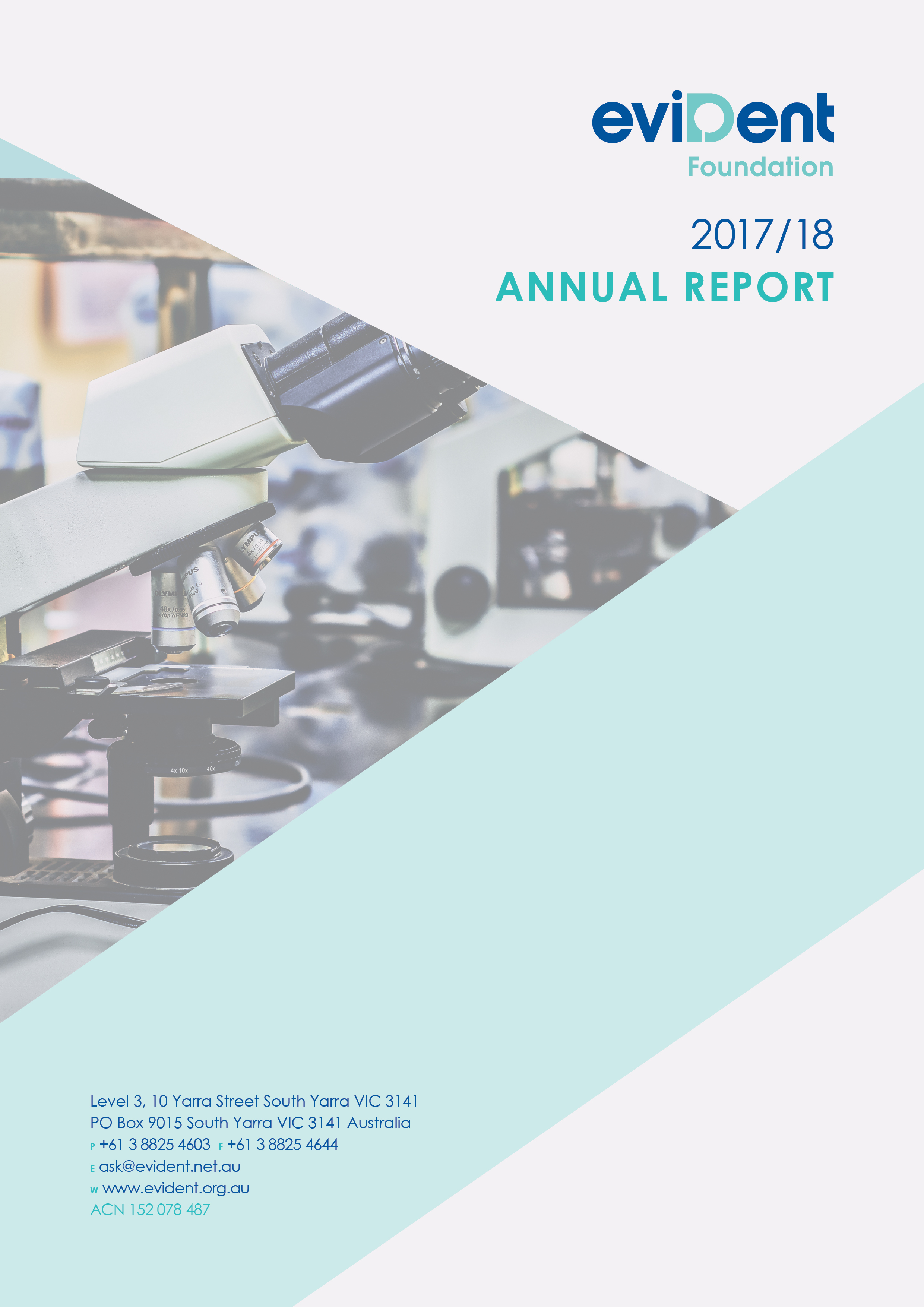 eviDent Annual Report 2017 18 COVER